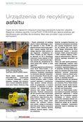 Artykuł - Urządzenia do recyklingu asfaltu