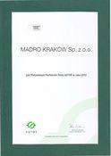 Madro Kraków Sp. z o.o. - Platynowy Partner firmy ASTOR w roku 2012