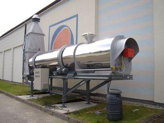 Trommeltrocken- und Erhitzungsanlage für Abfälle
